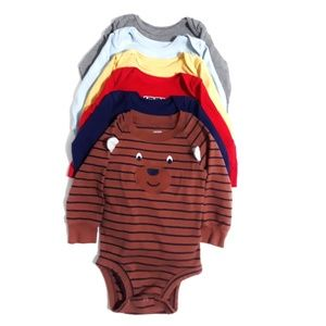 6pc Variety Lot of Onesies for Boys Size 9m
